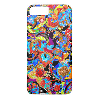 Cute colorful artistic flowers patterns iPhone 7 plus case