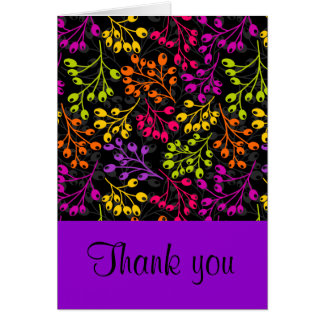Cute colorful autumn fruits Thank You Card