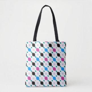 Cute colorful aztec pattern tote bag