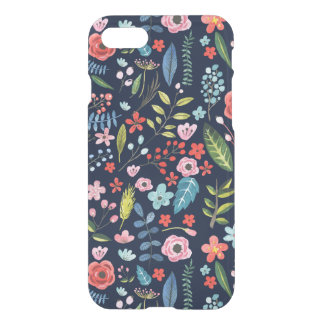 Cute Colorful Botanical Flowers & Leafs iPhone 8/7 Case
