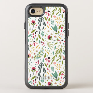 Cute Colorful Botanical Flowers & Leafs Pattern OtterBox Symmetry iPhone 8/7 Case