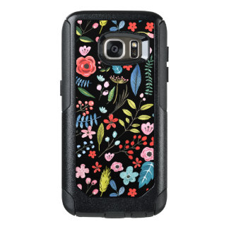 Cute Colorful Botanical Flowers Pattern OtterBox Samsung Galaxy S7 Case