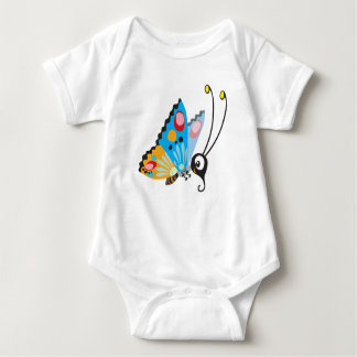Cute Colorful Butterfly Baby bodysuit