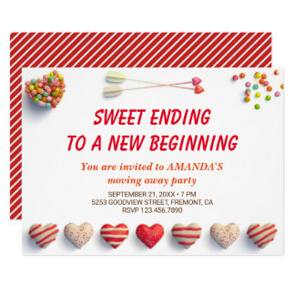 Cute Colorful Candies Farewell Party Invitation