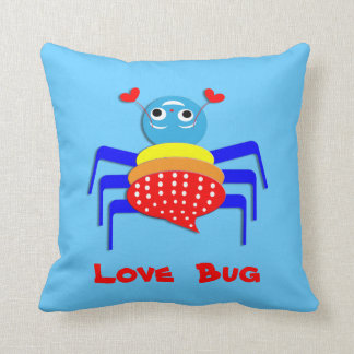 Cute Colorful Cartoon Love Bug Spider Picture Cushion