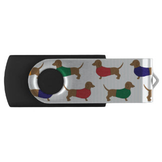 Cute Colorful Dachshund Dogs, USB Flash Drive