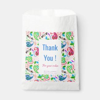 Cute colorful decorative flowers patterns favour bags