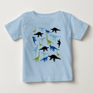 Cute colorful dinosaurs baby tee