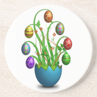 Cute Colorful Easter Egg Tree Coasters