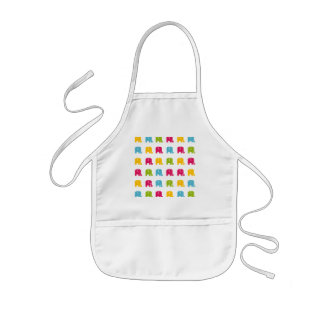 Cute Colorful Elephant Pattern Kids Apron