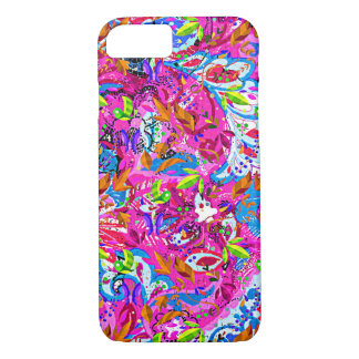 Cute colorful fantastic abstract floral iPhone 7 case