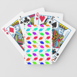 Cute & Colorful Festive Christmas Light Bulbs Bicycle Playing Cards