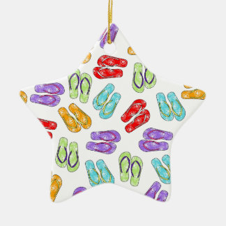 Cute Colorful Flip Flops Christmas Ornament