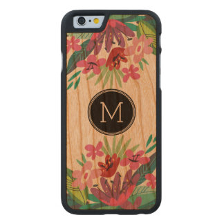 Cute Colorful Floral Design Carved® Cherry iPhone 6 Slim Case