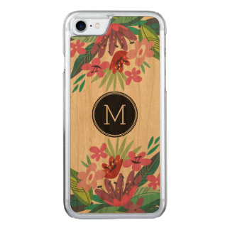 Cute Colorful Floral Design Carved iPhone 7 Case