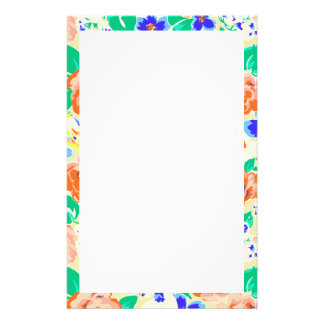 Cute colorful floral pattern stationery