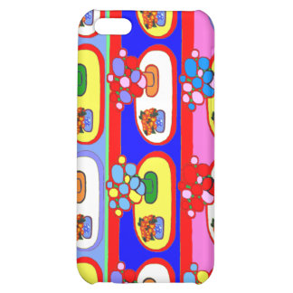 Cute Colorful Flower Pot i Gift iPhone 5C Cases