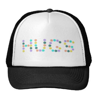 Cute colorful flowered hugs cap