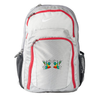 Cute colorful flying swallow backpack
