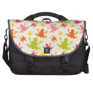 Cute Colorful Frogs Pattern Laptop Computer Bag