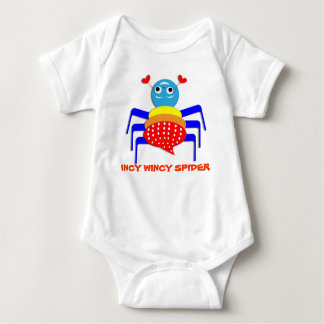 Cute Colorful Fun Incy Wincy Spider Baby Bodysuit
