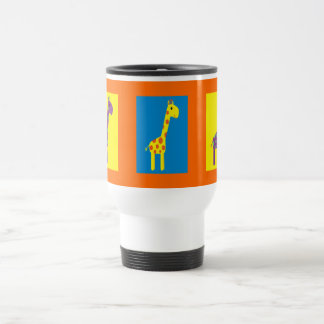 Cute & Colorful Giraffes Customizable Travel Mug