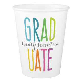 Cute Colorful Graduation Paper Cups