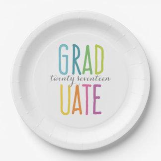 Cute Colorful Graduation Paper Plates