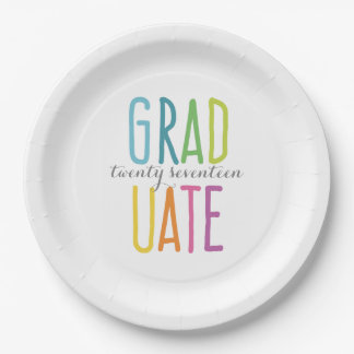 Cute Colorful Graduation Paper Plates 9 Inch Paper Plate