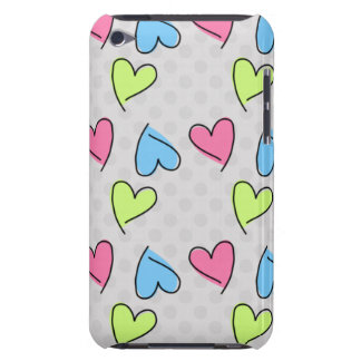 Cute colorful hearts Case-Mate iPod touch case