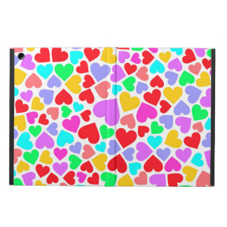 Cute colorful hearts patterns iPad air case