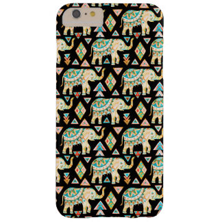 Cute colorful indian elephants pattern barely there iPhone 6 plus case