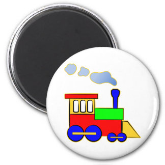 Cute Colorful Kids Train Engine 6 Cm Round Magnet