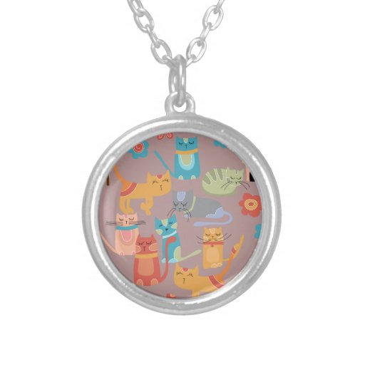 Cute Colorful Kitty Cats Gifts for Cat Lovers Pink Custom Jewelry