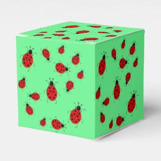 Cute colorful ladybugs clip art favour box