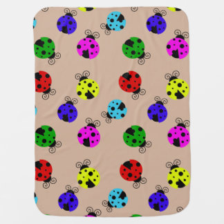 Cute Colorful Ladybugs Pattern Receiving Blankets