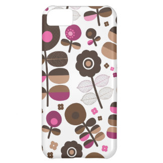 Cute colorful leaf nerve pattern iPhone 5C covers