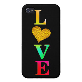 cute colorful love heart iphone7 cover design case for iPhone 4