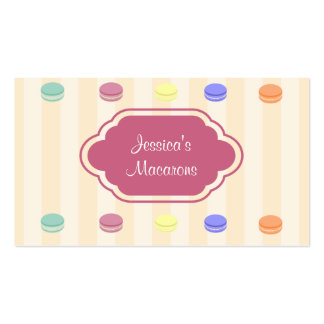 Cute Colorful Macarons Bakery Business Card