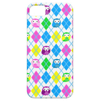 Cute Colorful Owl Argyle iPhone 5 Cases