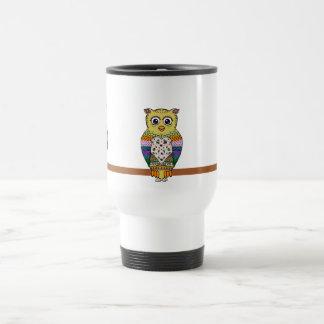 Cute Colorful Owl on star lit night Coffee Mug