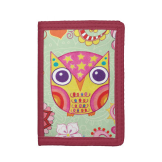 Cute Colorful Owl Wallet