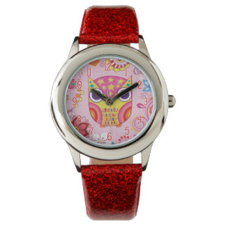 Cute Colorful Owl Watch