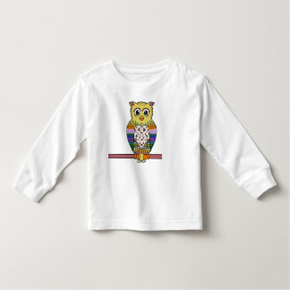 Cute Colorful Owl - white Toddler T-Shirt