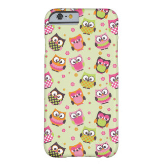 Cute Colorful Owls iPhone 6 case (light green) Barely There iPhone 6 Case