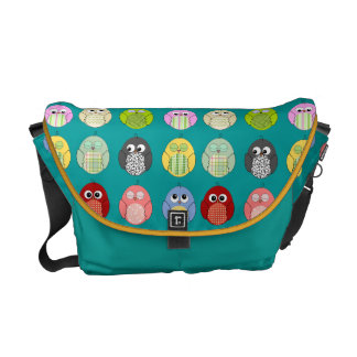 Cute Colorful Owls Pattern Messenger Bags