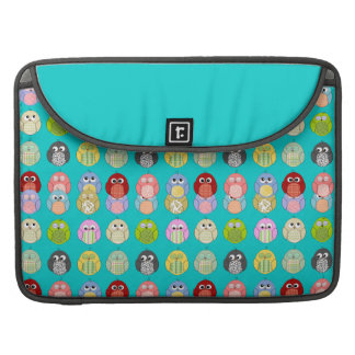 Cute Colorful Owls Pattern Sleeve For MacBooks