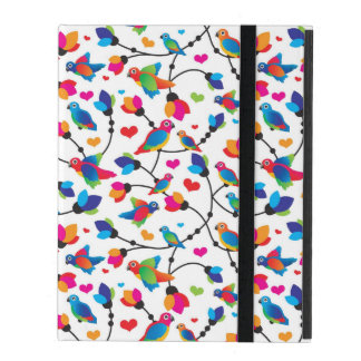 cute colorful parrot bird iPad cover
