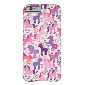 Cute Colorful Playing Unicorns Barely There iPhone 6 Case