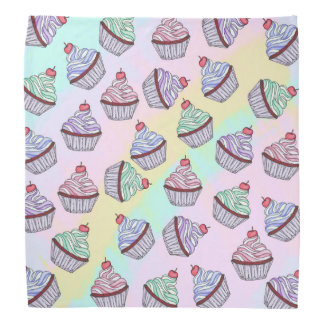 Cute Colorful Rainbow Foodie Cherry Cupcakes Do-rag